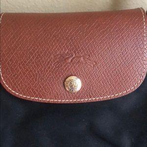 Longchamp small canvas purse
